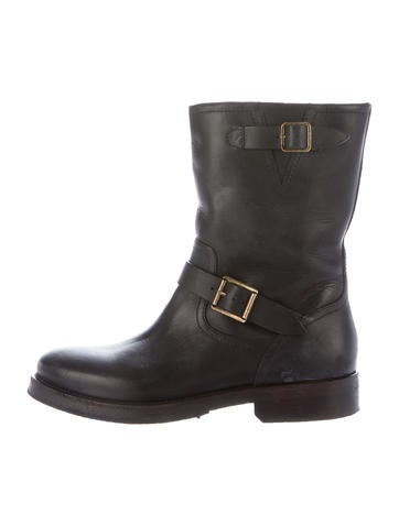 Unique  Women Motorcycle Boots Genuine Leather Thick Heel Ankle Boots Plus