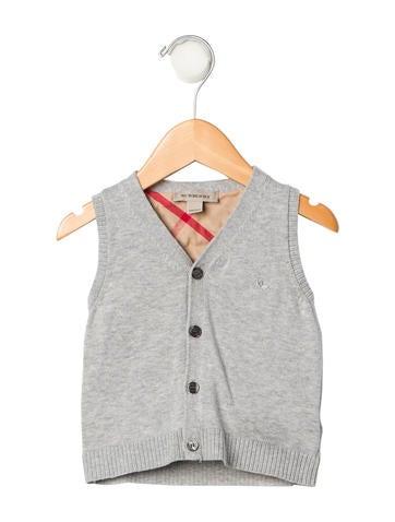 Burberry Boys' Rib Knit V-Neck Vest None