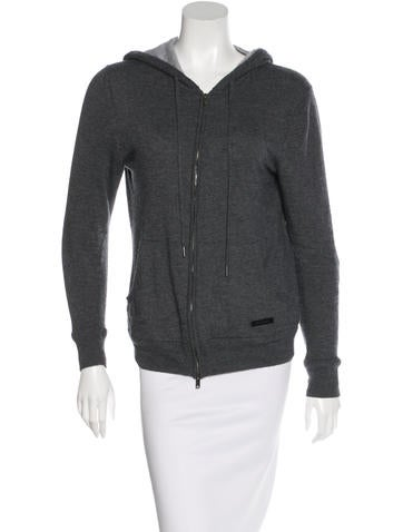 Burberry Cashmere Hooded Cardigan None