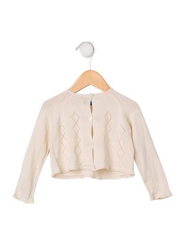 Burberry Girls' Silk Rib Knit Cardigan None