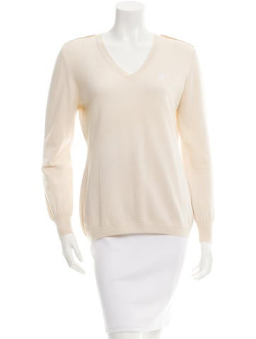 Burberry Wool V-Neck Sweater None
