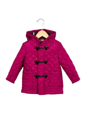 Burberry Girls' Hooded Quilted Jacket None
