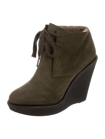burberry suede wedge boots shoes bur61907 the realreal