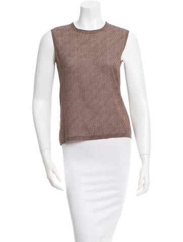 Calvin Klein Collection Silk Patterned Top None