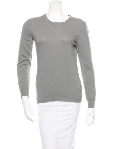 Calvin Klein Collection Long Sleeve Round-Neck Sweater None