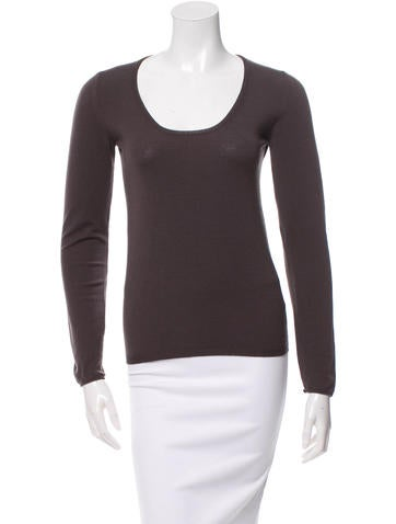 Calvin Klein Collection Wool Scoop Neck Sweater None