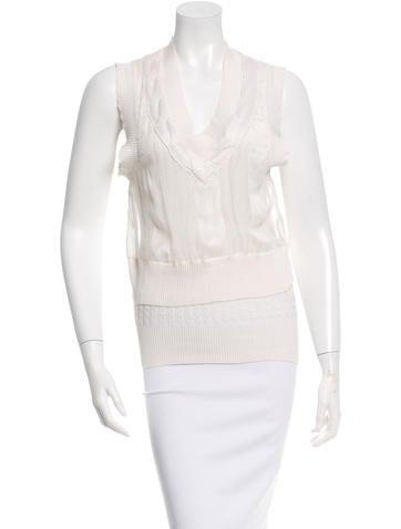 Calvin Klein Collection Silk Sleeveless Top w/ Tags None