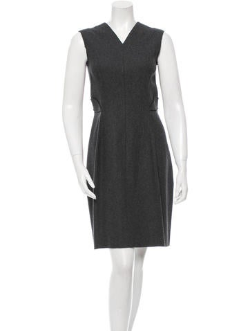 Calvin Klein Collection Sleeveless Wool Dress None