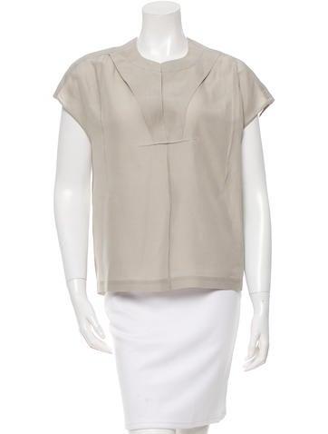 Calvin Klein Collection Sleeveless Silk Top None