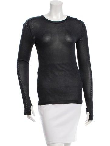 Calvin Klein Collection Silk Knit Top None