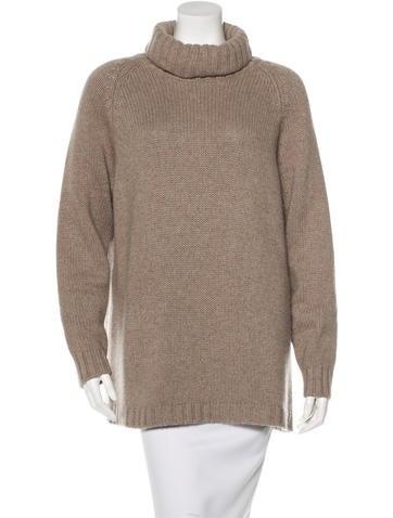 Calvin Klein Collection Cowl Neck Wool-Silk Blend Sweater None