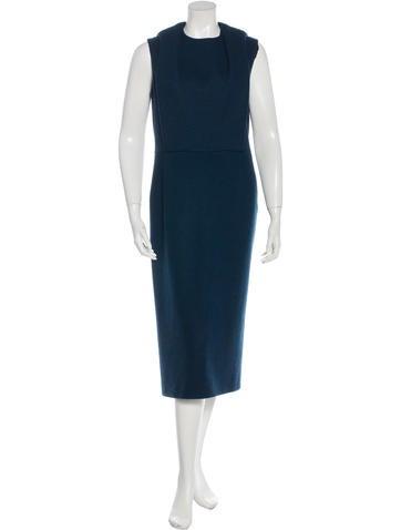 Calvin Klein Collection Wool Midi Dress None