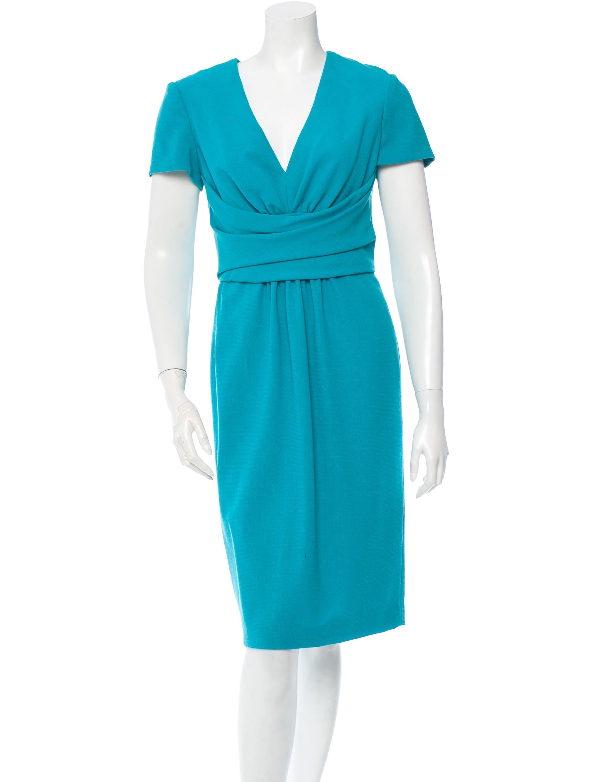 carolina herrera wool dress clothing cao23739 the