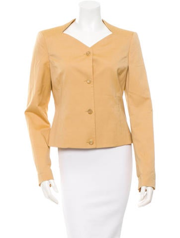 Carolina Herrera Wool & Silk-Blend Jacket None