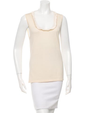 Carolina Herrera Sleeveless Wool-Blend Top None