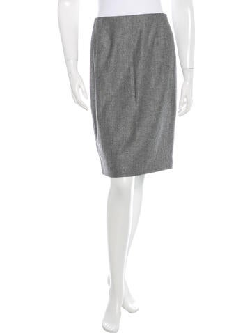 Carolina Herrera Wool Pencil Skirt None