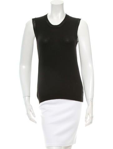 Carolina Herrera Sleeveless Cashmere & Silk-Blend Top None