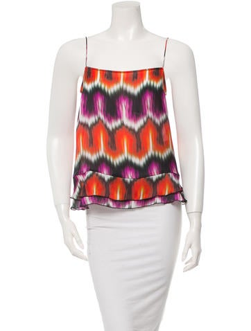 Chris Benz Silk Abstract Print Top w/ Tags None
