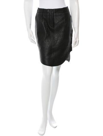 Carven Leather Mini Skirt None