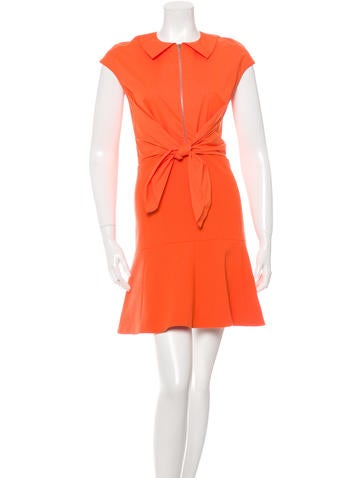 Carven Wool Fluted Hem Dress w/ Tags None