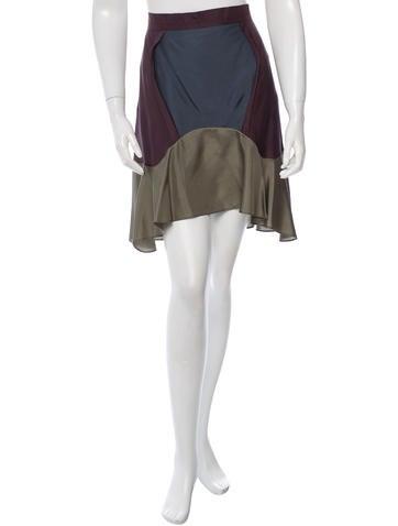 Carven Colorblock Mini Skirt None