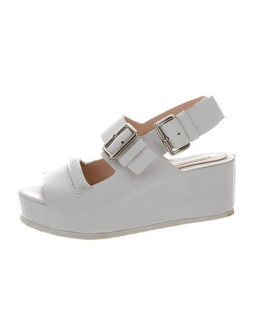 Carven Leather Platform Wedges None