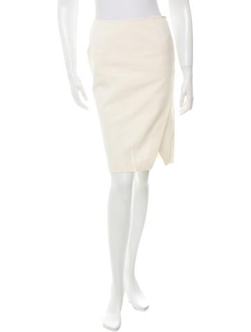 Cédric Charlier Knee-Length Crossover Skirt w/ Tags