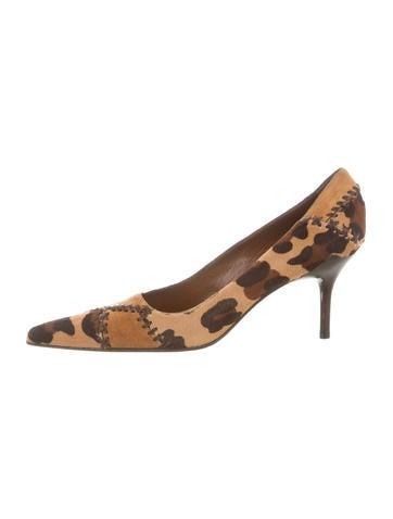 Casadei Leopard Ponyhair Pumps None