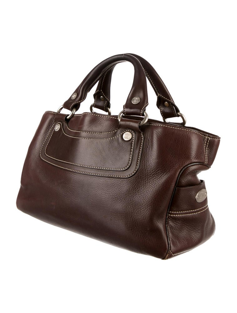 celine boogie handbag in leather