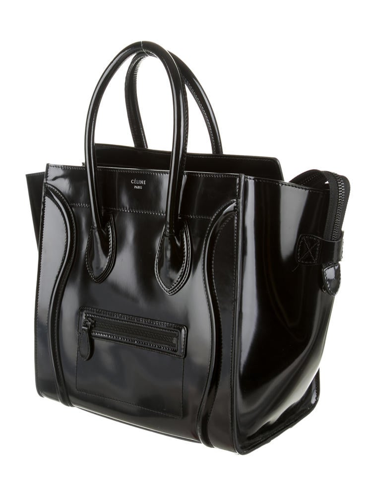 celine bags online review - C��line Spazzolato Mini Luggage - Handbags - CEL22564 | The RealReal