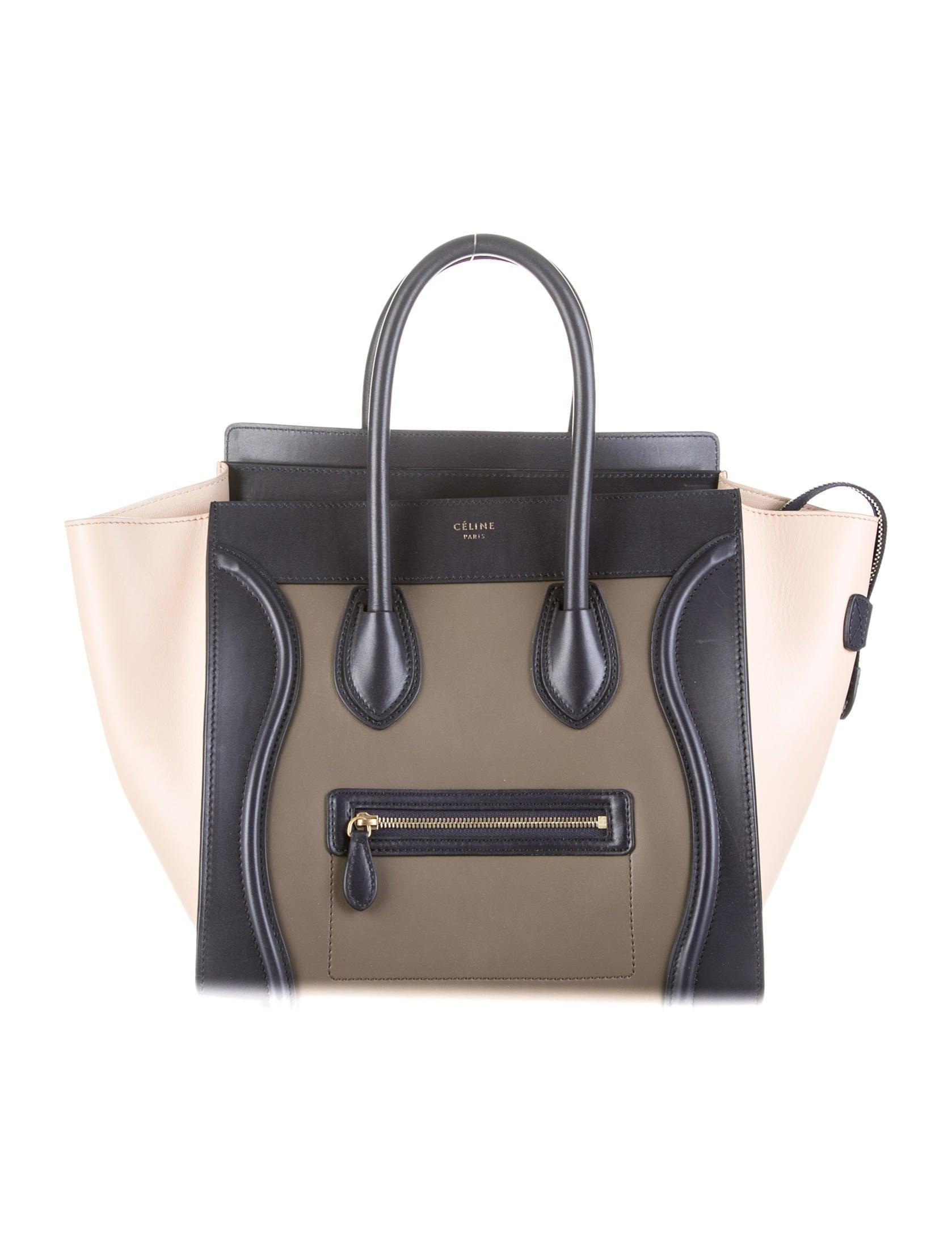 C¨¦line Tricolor Mini Luggage Tote - Handbags - CEL23261   The RealReal