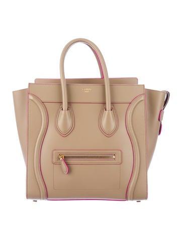 Céline Palmelato Contrast Trim Mini Luggage