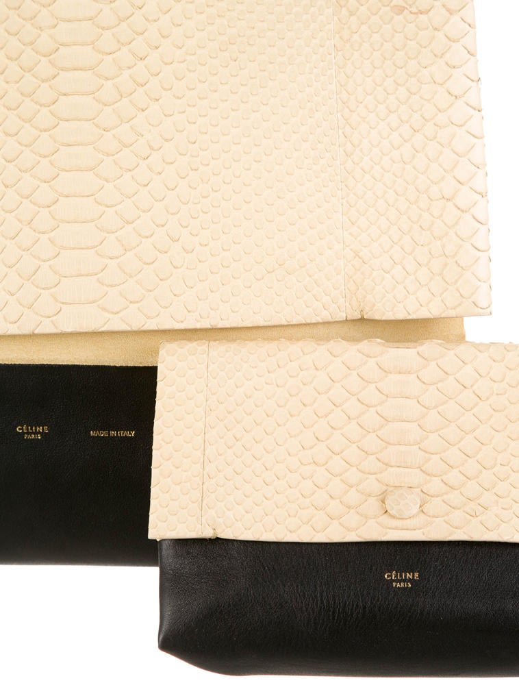 celine bags online - C��line Python All Soft Tote - Handbags - CEL24106 | The RealReal