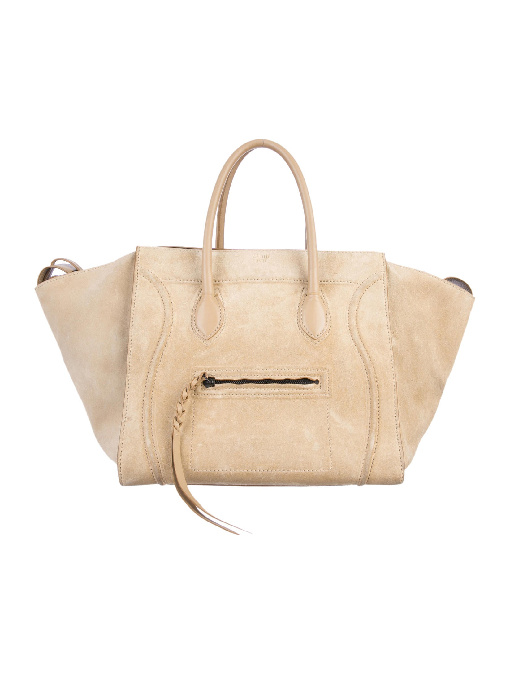 celine bag for less - C��line Suede Phantom Tote - Handbags - CEL24346 | The RealReal