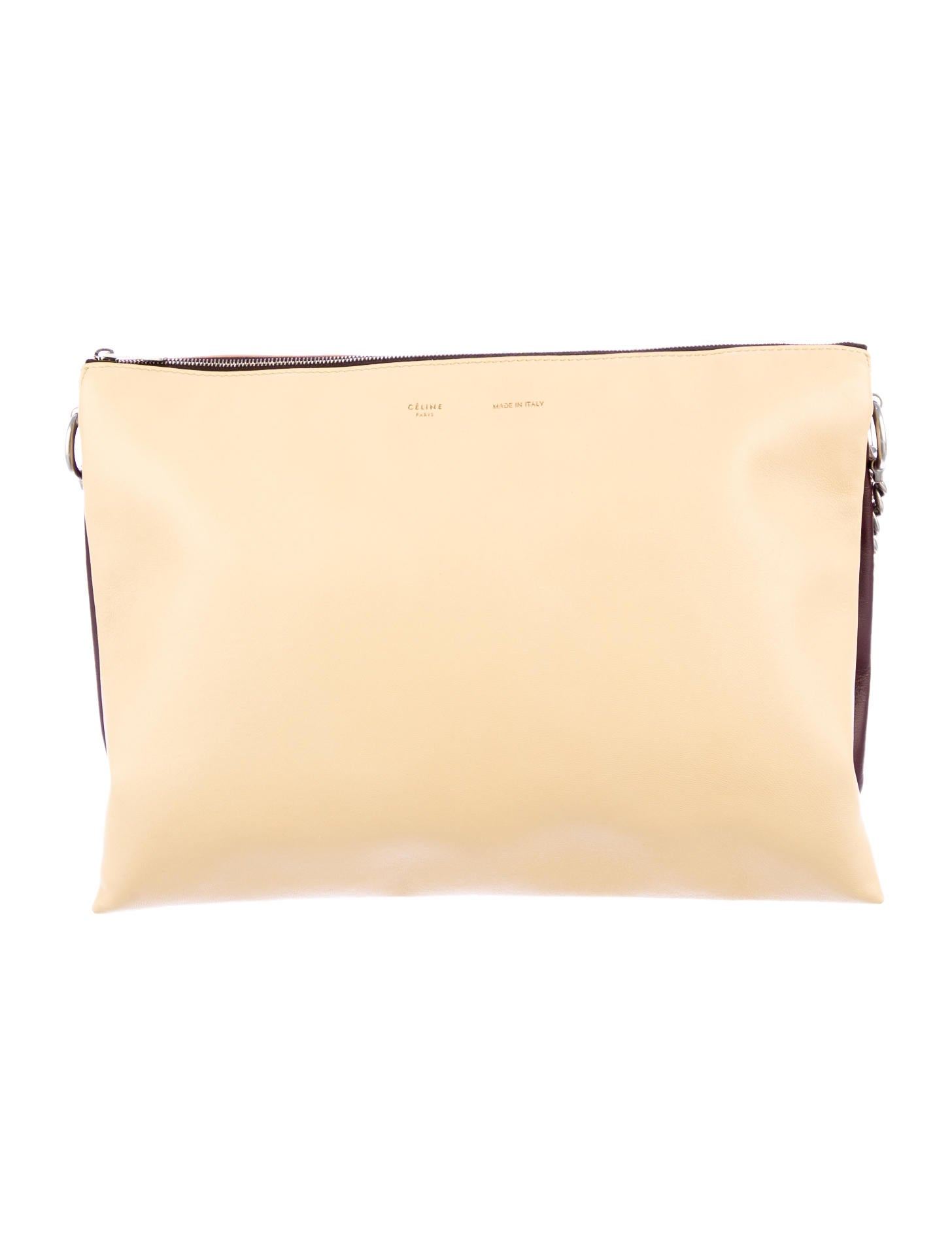 ccacddf8a7 celine pink leather clutch bag trio celine pink leather clutch bag trio ...