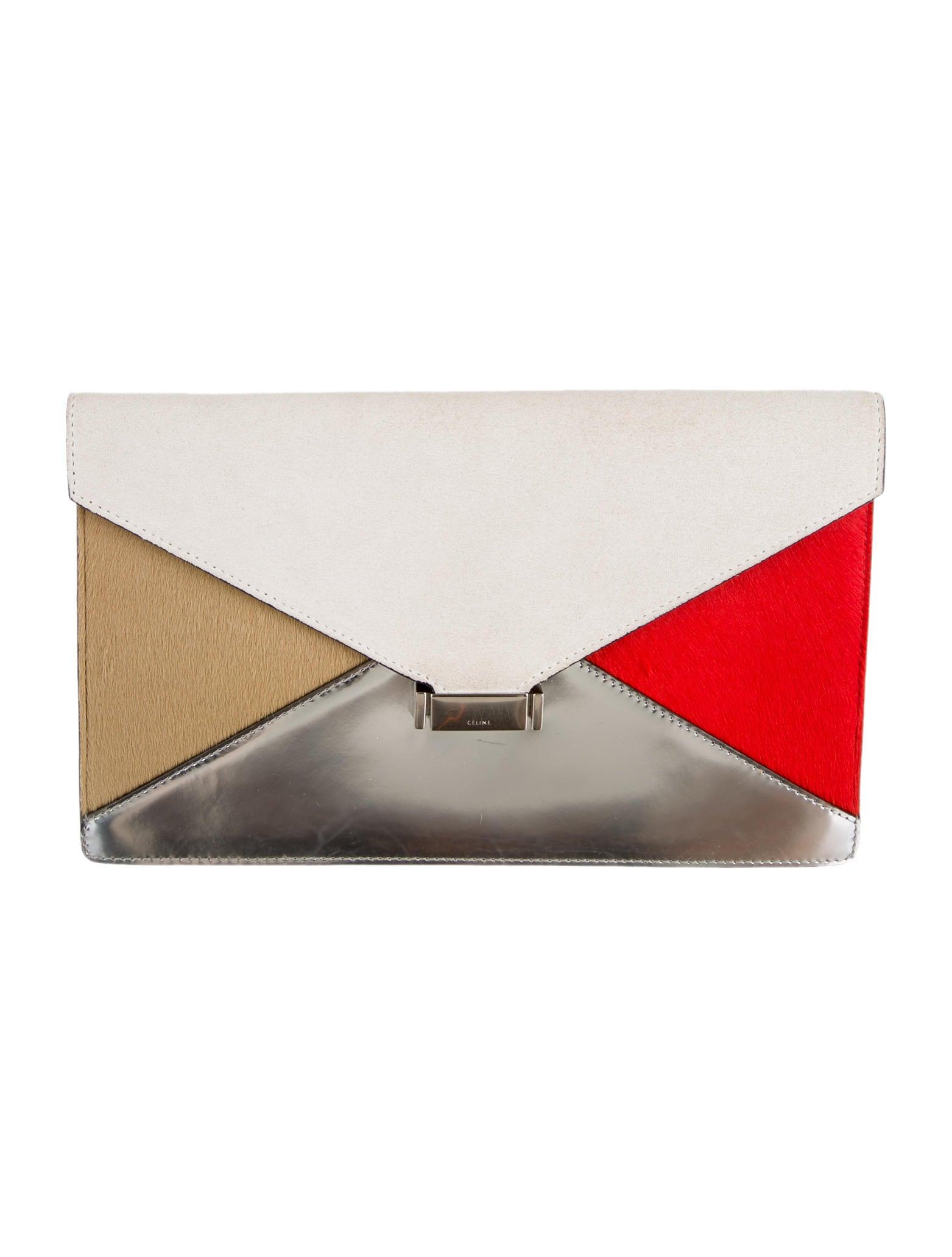 celine totes sale - celine multicolour suede handbag diamond clutch