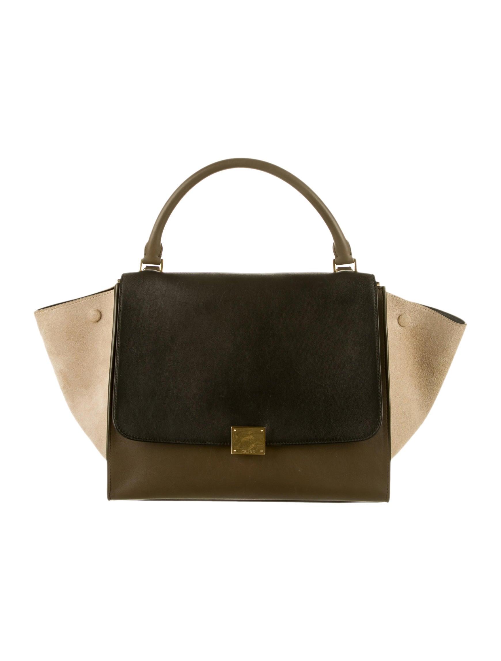 royal blue suede handbag - Celine Medium Luggage Tote Neon Black