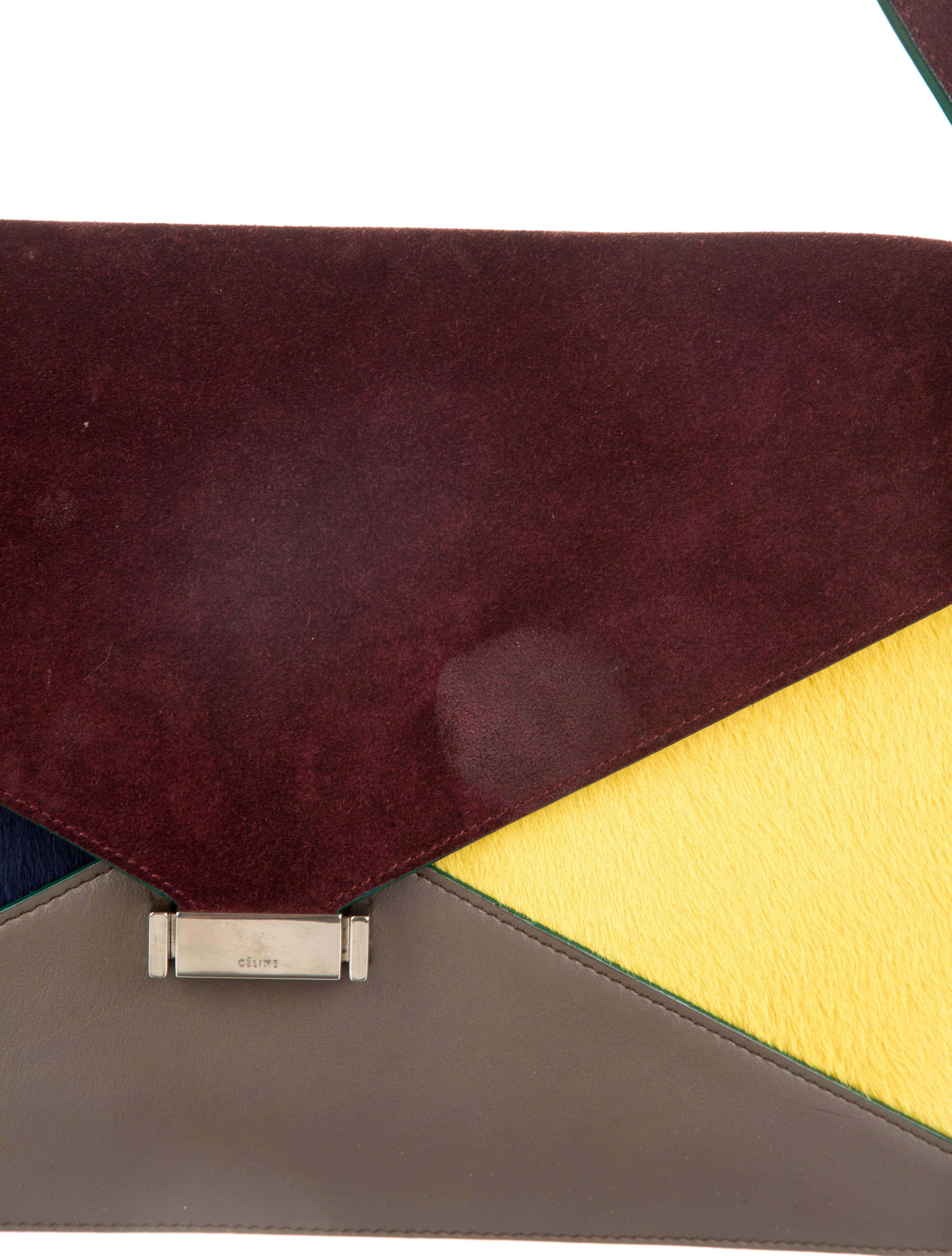 C��line Multicolor Pony Hair Diamond Shoulder Bag - Handbags ...