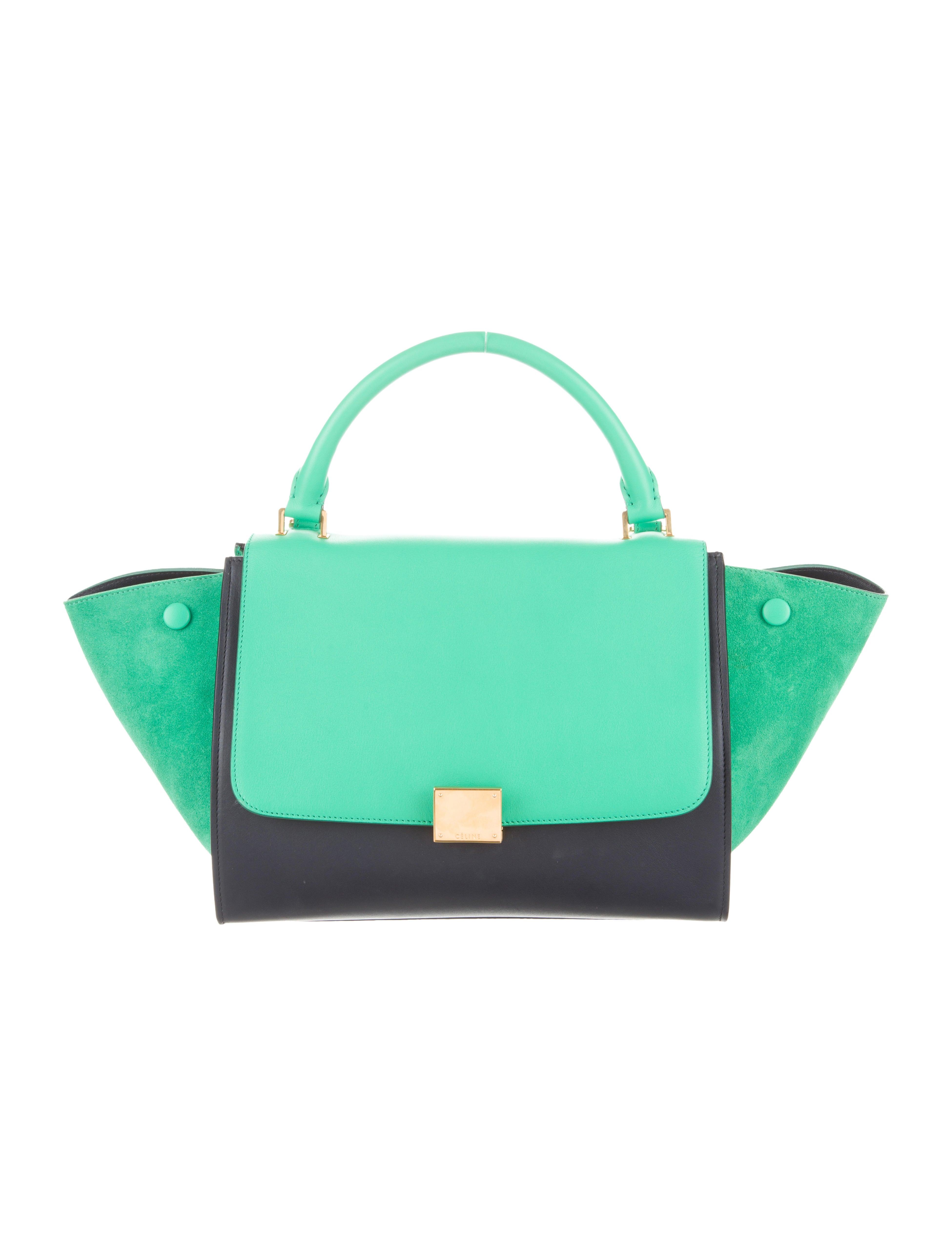 d934e62339 celine black bag online - C¨¦line Bicolor Mini Trapeze Bag - Handbags -