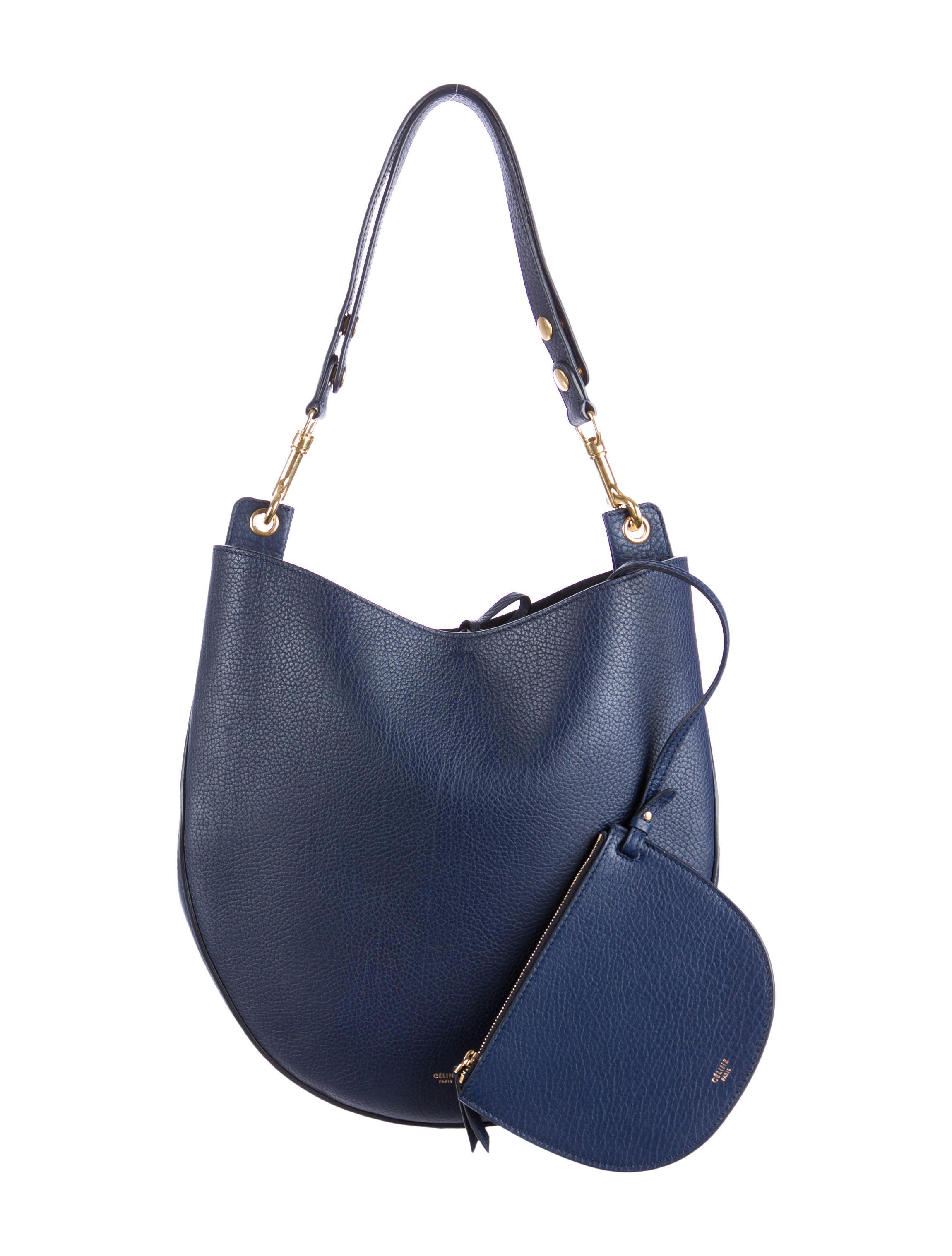 celine taschen - C¨¦line Grained Calfskin Hobo - Handbags - CEL32320  18c6e733ede56
