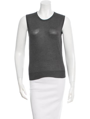 Céline Crew Neck Silk Top None
