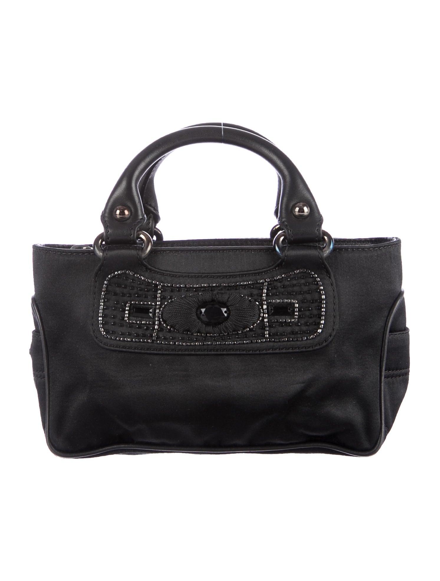 celini bag - celine embellished satin handle bag, www celine handbags com