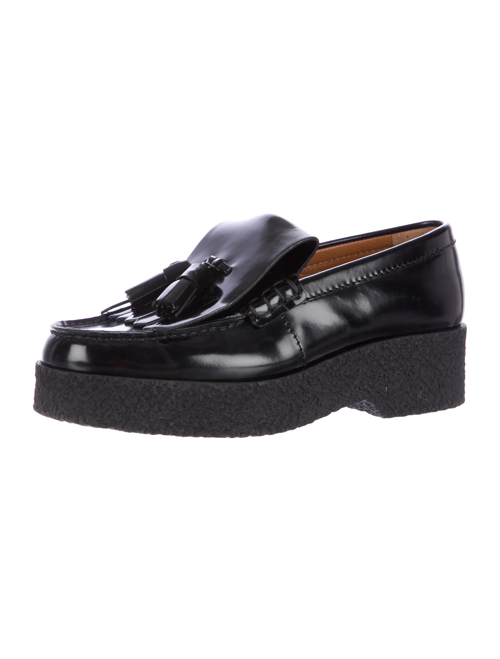 c 233 line leather platform loafers shoes cel32473 the