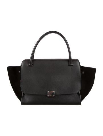 81bd9ba9e50d celine black suede handbag cabas phantom
