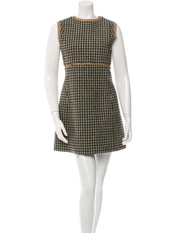 Céline Wool Gingham Dress w/ Tags