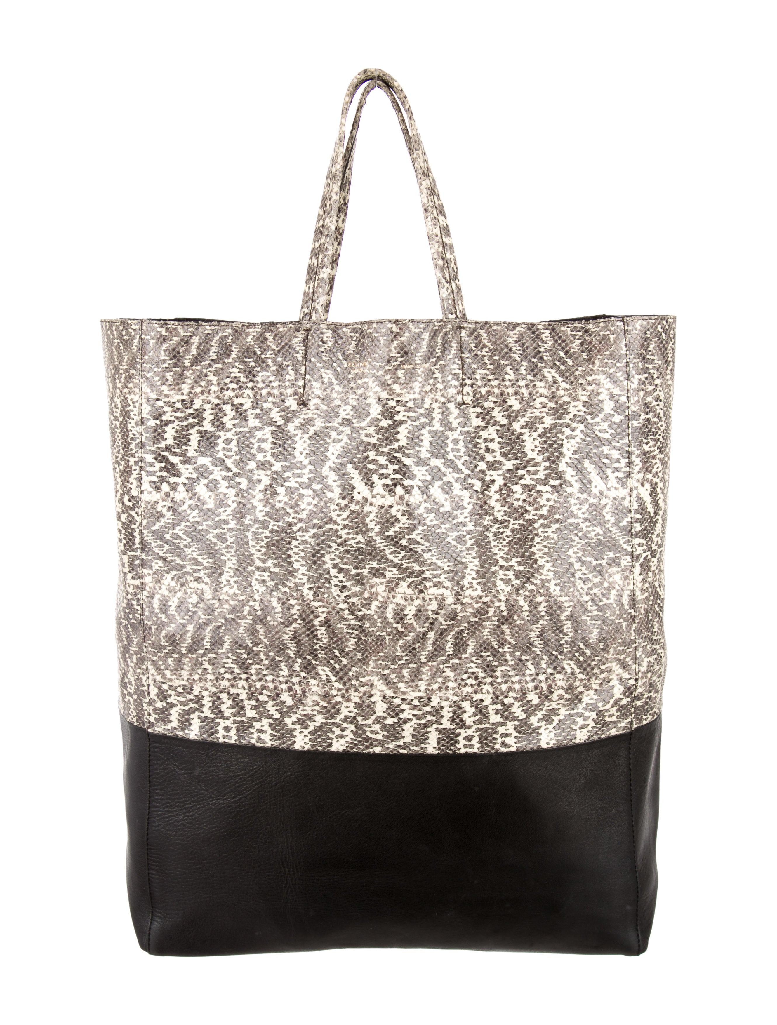 celine mini luggage tote bag price - celine python vertical cabas tote, celine shopper tote bag