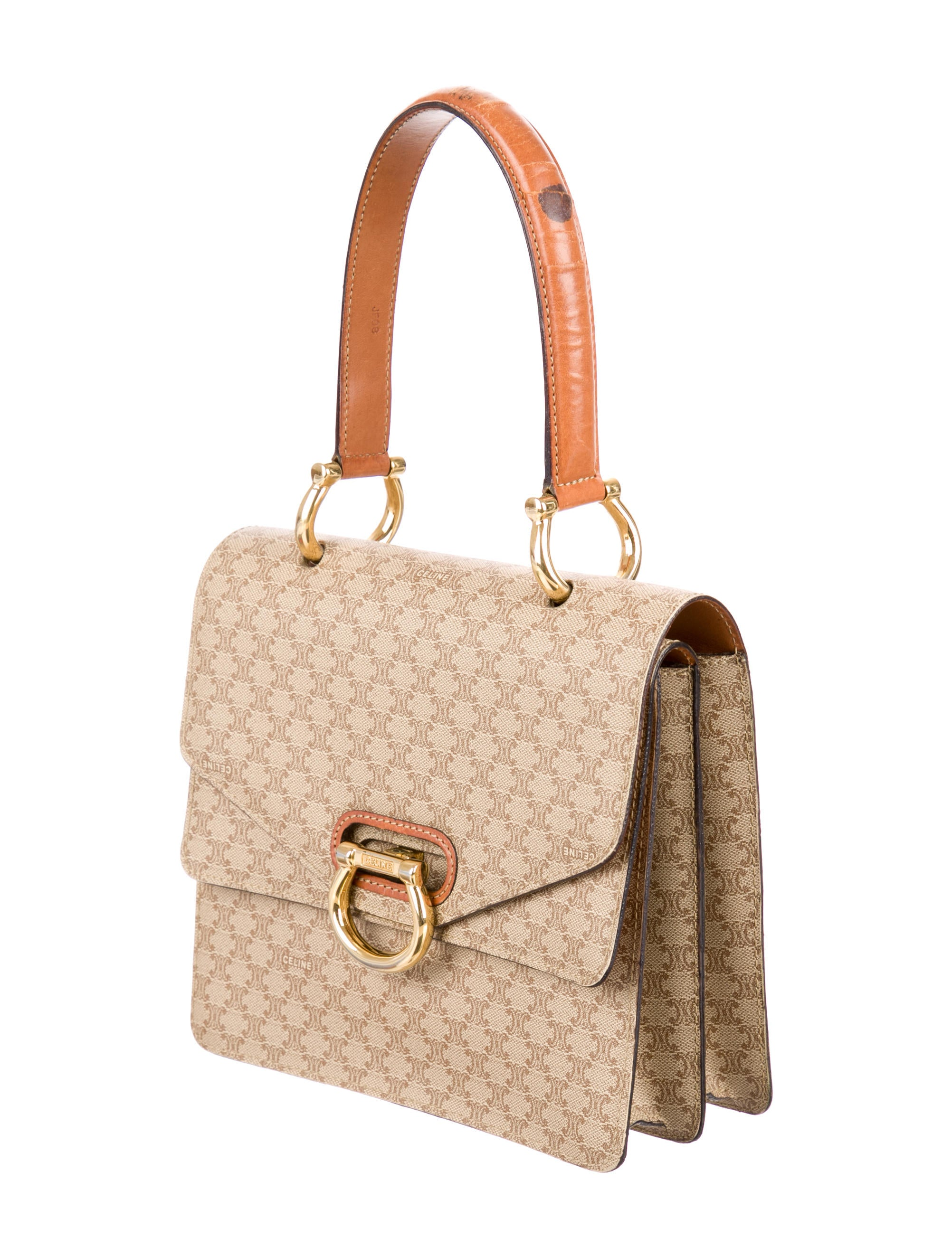 C��line Monogram Coated Canvas Handle Bag - Handbags - CEL32863 ...