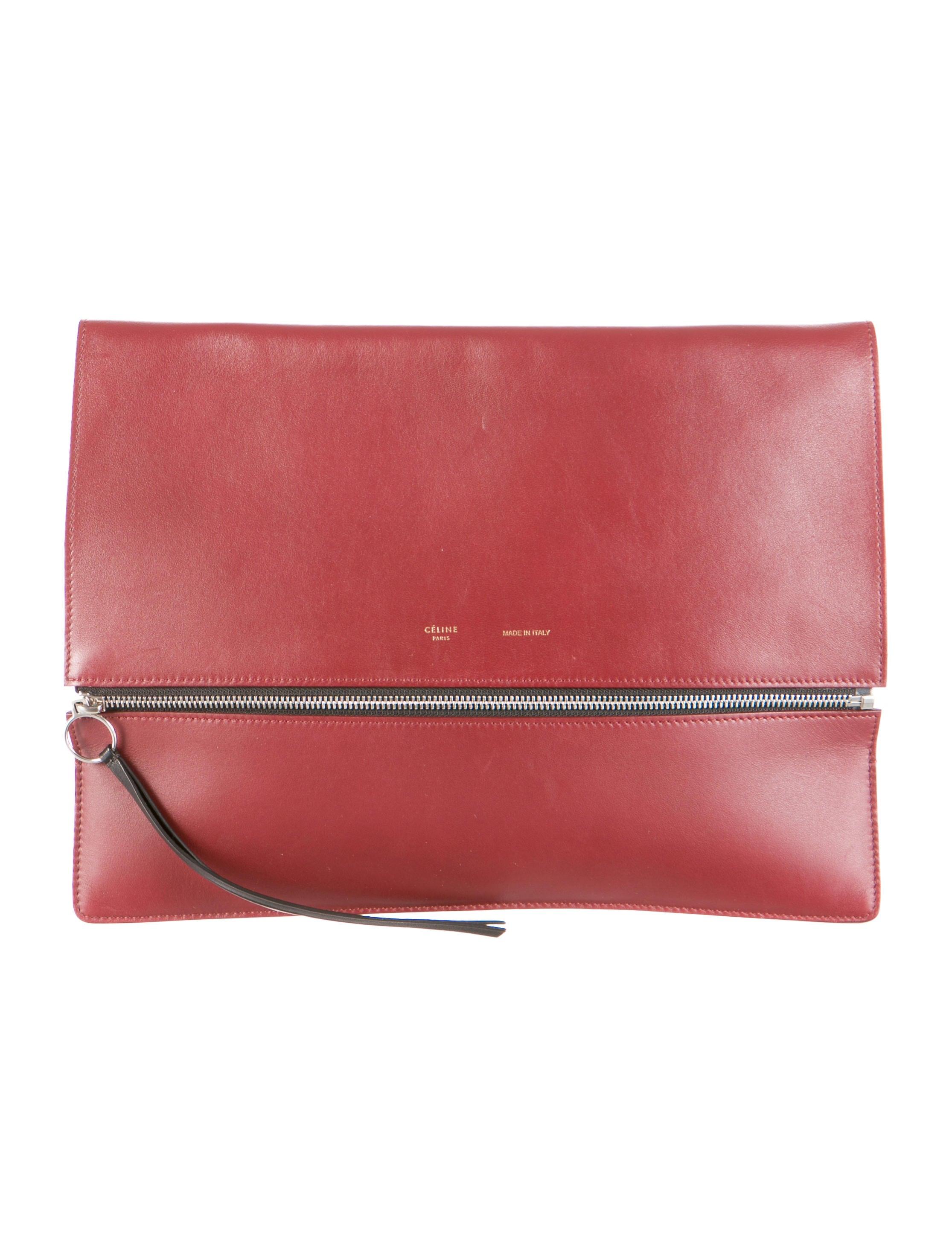 celine foldover clutch bag w tags celine taschen online. Black Bedroom Furniture Sets. Home Design Ideas