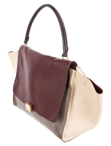 celine large tri-color trapeze bag
