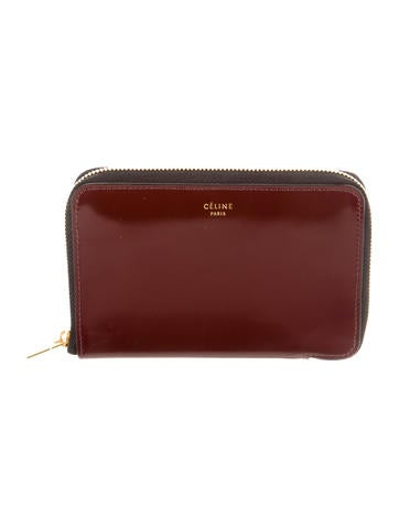 celine envelope zip clutch w tags